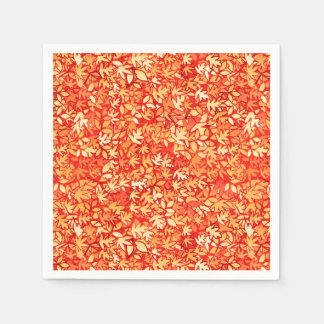 Autumn leaves, orange and gold disposable napkins