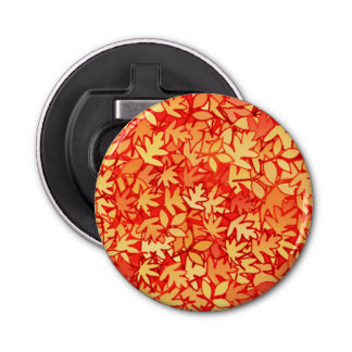 Autumn leaves, orange and gold button bottle opener