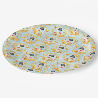 Autumn leaves pattern 9 inch paper plate