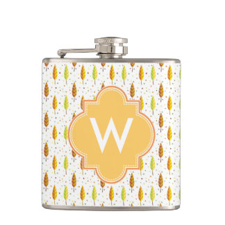 Autumn leaves Pattern Hip Flask