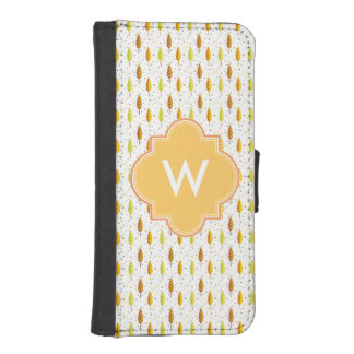 Autumn leaves Pattern iPhone SE/5/5s Wallet Case