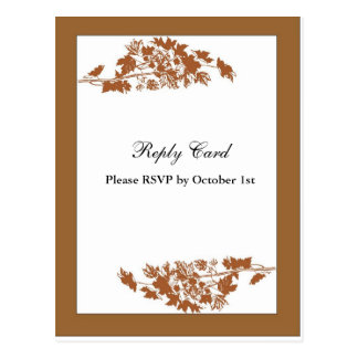 Autumn Leaves Reply Card Postcard
