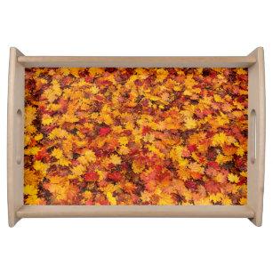 Gold Leaf Serving Trays Food Trays Zazzle Co Nz