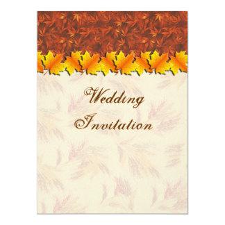 Autumn Leaves Wedding  Invitation Card