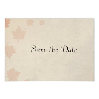 Autumn Leaves Wedding Save the Date Card