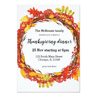 Autumn leaves wreath card