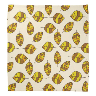 Autumn Leaves Yellow Leaf Pattern on any Color Bandana