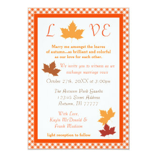 Autumn Love Leaf - Wedding Invitation