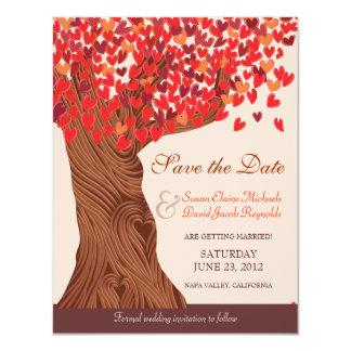 Autumn Love Romantic Oak Tree Save the Date Card