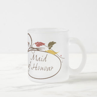 Autumn Maid of Honour Frosted Glass Coffee Mug