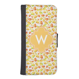Autumn Maple leaves iPhone SE/5/5s Wallet Case