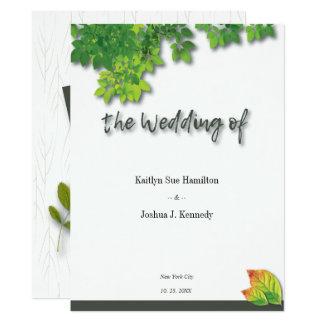 Autumn Oak Elegant Wedding Card