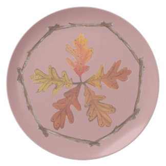 Autumn Oak Leaf Plate