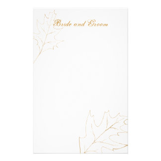 Autumn Oak Leaf Wedding Stationery