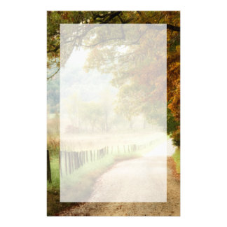 Autumn on a Country Road Stationery