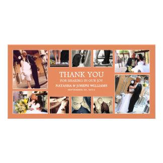 AUTUMN ORANGE COLLAGE   WEDDING THANK YOU CARD