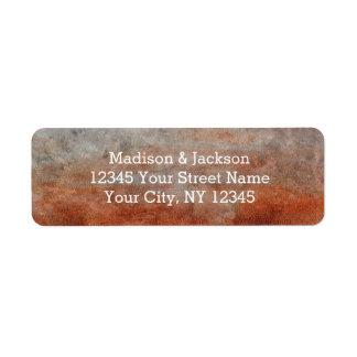 Autumn Orange Rust Gray Wedding Return Address Return Address Label