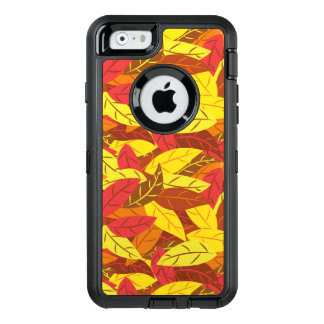 Autumn pattern colored warm leaves OtterBox defender iPhone case