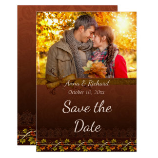 Autumn Photo Save the Date Card