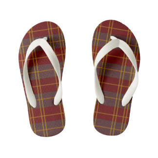 Autumn Plaid Flip Flops