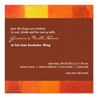 Autumn pueblo Bachelor Party Invitation