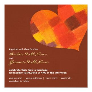 Autumn pueblo Square Wedding Invitation