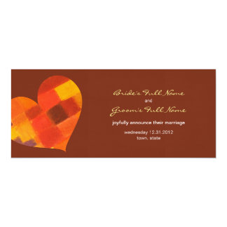 Autumn pueblo Wedding Announcement