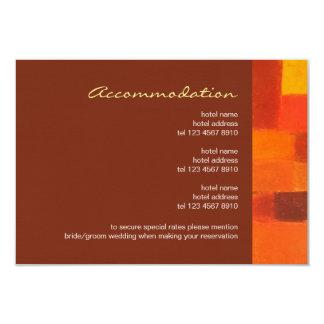 Autumn pueblo Wedding Enclosure Card 9 Cm X 13 Cm Invitation Card