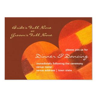 Autumn pueblo Wedding Reception Invite