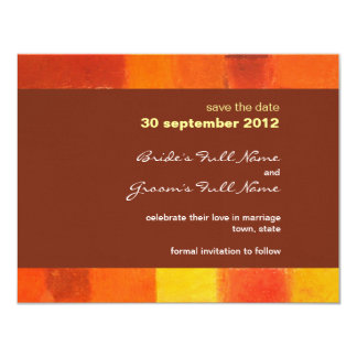 Autumn pueblo Wedding Save the Date Card