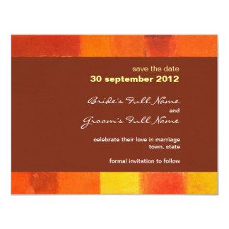 Autumn pueblo Wedding Save the Date Card