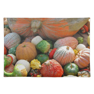 Autumn pumpkin harves placemat