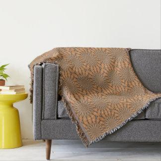 Autumn Pumpkin Spice Small Flower Star Design Throw Blanket