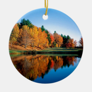 Autumn Reflections Vermont Christmas Ornament