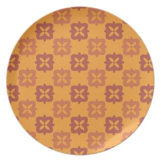 Autumn retro 4 plates