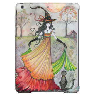 Autumn Reverie Witch Cat Fantasy Art