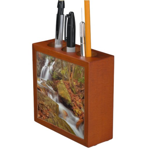 Autumn river with waterfall desk organizers