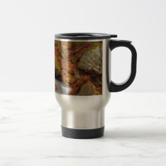 Autumn river with waterfall 15 oz stainless steel travel mug