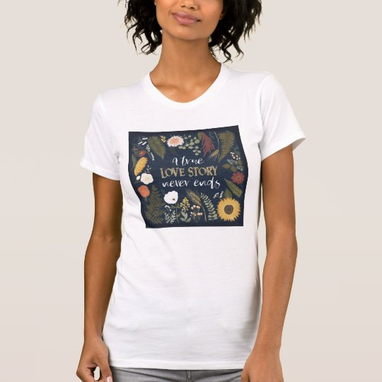 Autumn Romance V | A True Love Story Never Ends T-Shirt