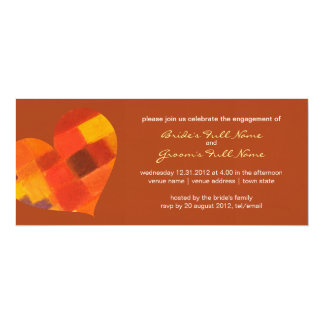 Autumn rust Engagement Invitation