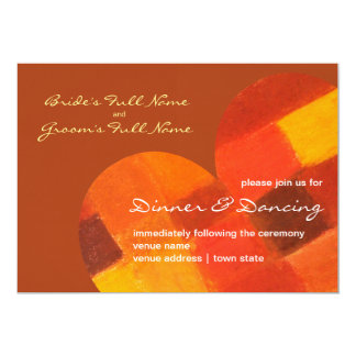 Autumn rust Wedding Reception Invite