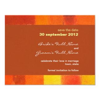 Autumn rust Wedding Save the Date Card 11 Cm X 14 Cm Invitation Card
