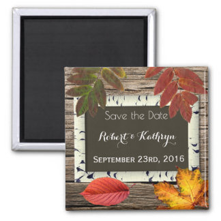 "Autumn ""Save the Date"" Wedding Magnet"