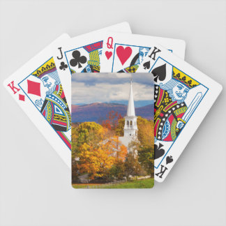 Autumn Scene In Peacham, Vermont, USA Bicycle Playing Cards