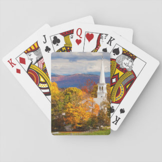 Autumn Scene In Peacham, Vermont, USA Playing Cards