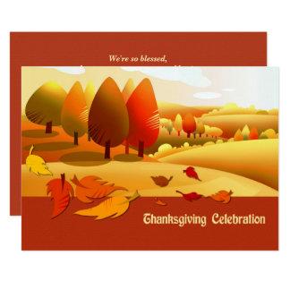 Autumn Scenery Thanksgiving Dinner Invitations