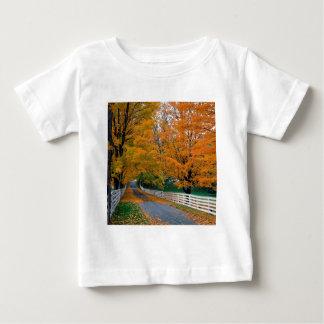 Autumn Scenic Backroad New Hampshire Baby T-Shirt