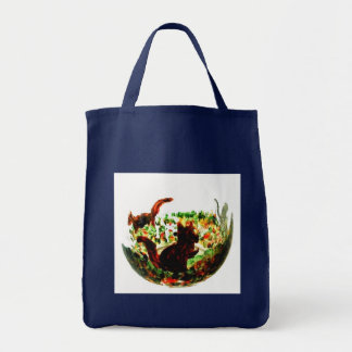 Autumn Squirrels Animal Art Tote Bag