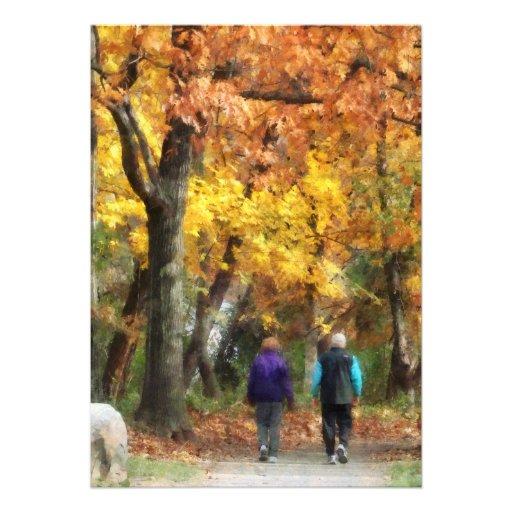 Autumn Stroll Invites