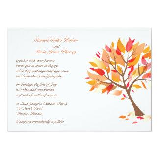 Autumn Theme Tree Flat Wedding Invitation